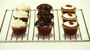 Cupcakes met verschillende toppings
