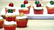 Cupcakes met geconfijte kersen