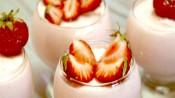 Goddelijke aardbeienmousse