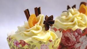 Chai cupcakes met kaneel, anijs en sinaasappel