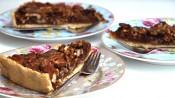 Pecantaart met chocola