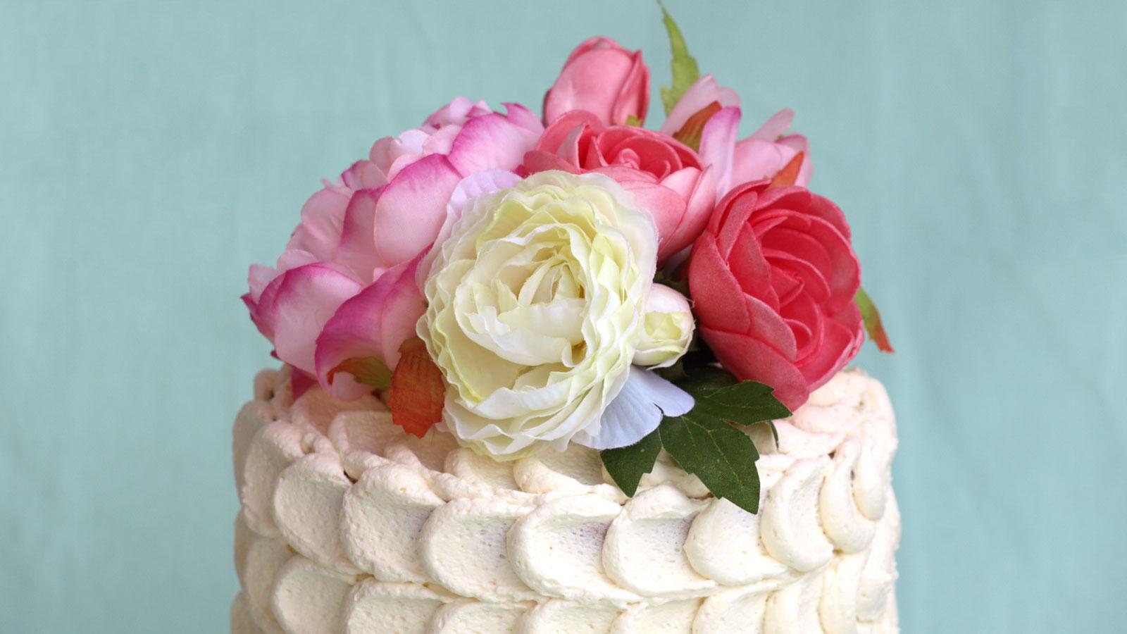 Onwijs Bruidstaartje met bloemen | Toetjes en Taarten DX-25